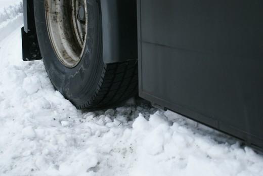 Festgefahren im Schnee